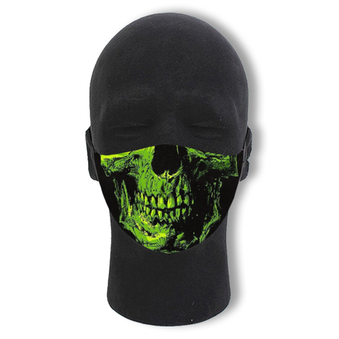 Green Skull Non-Moving Mask