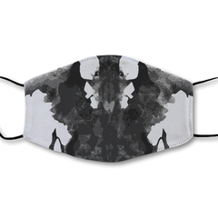 Moving Inkblot Half Mask - V1