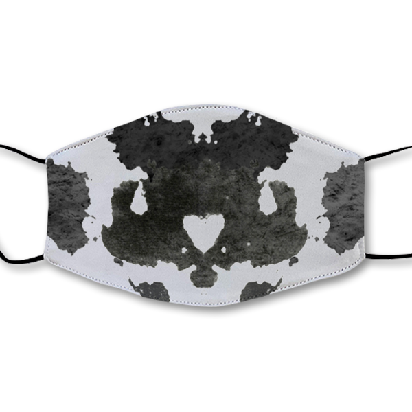 Moving Inkblot Half Mask - V2