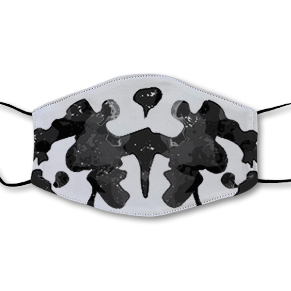 Moving Inkblot Half Mask - V3
