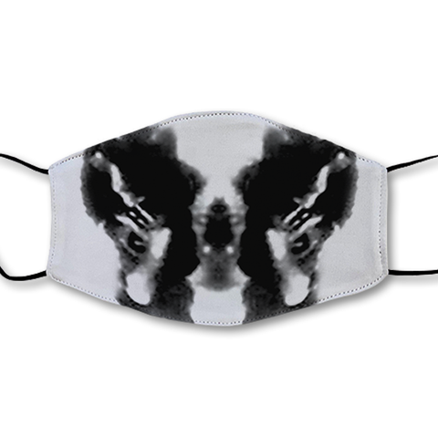 Moving Inkblot Half Mask - V5