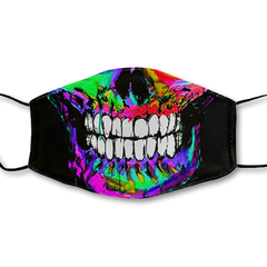 Neon Skull Non-Moving Mask