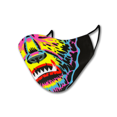 Retro Wolfman Non-Moving Mask