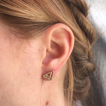 Tribal Triangle Studs