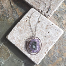 Amethyst Stalactite Sterling Silver Necklace