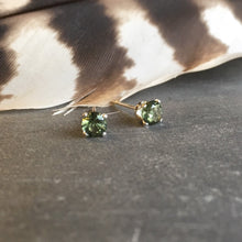 Moldavite Stud Earrings