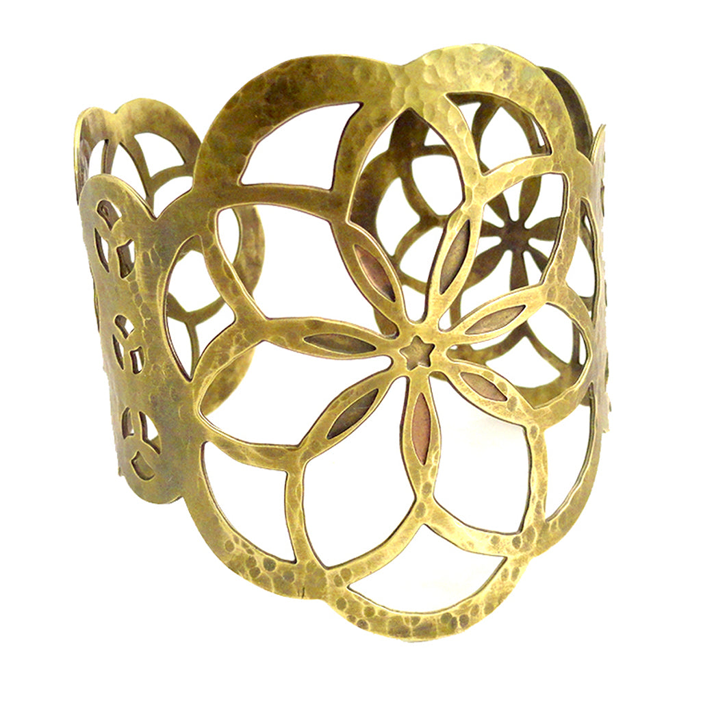 Flower of Life Inspired Cuff