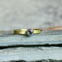 14kt Yellow Gold and Palladium Color change Sapphire Engagement Ring Size 7
