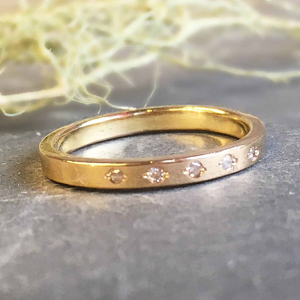 ring with thin attachment gold brilliant ultra simple rose dainty rings bands band of gallery full wedding diamond view