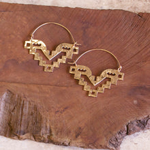 Pisac Temple Tribal Hoop Earrings