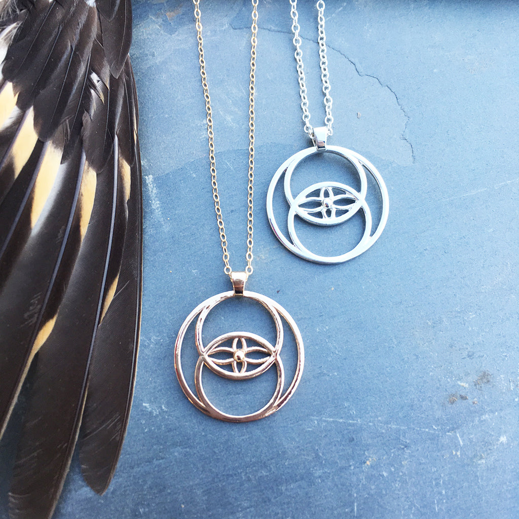Simple Vesica Piscis Pendant
