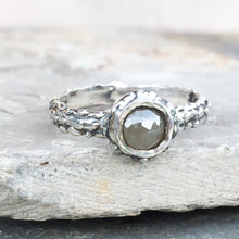 Rose Cut Diamond Barnacle Ring Size 8.5