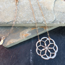 Small Flower of Life Inspired Pendant