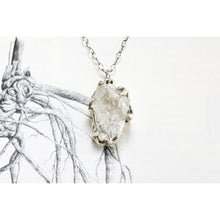 Sterling Silver Quartz Crystal Necklace