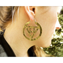 Philosopher's Stone Hoop Earrings