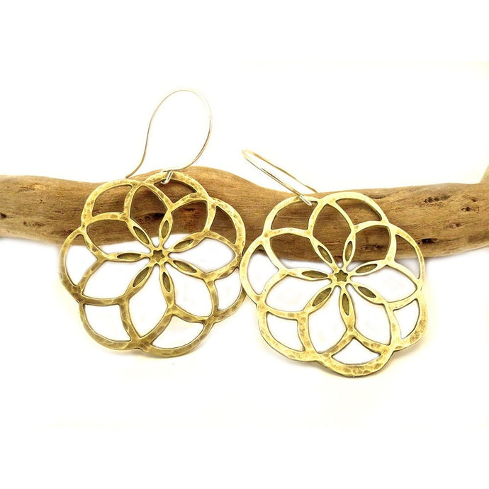 Flower of Life Dangle Earrings