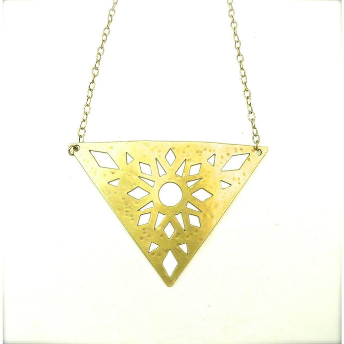 Reticella Triangle Necklace