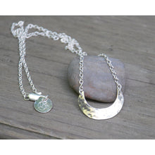 Small Waning Crescent Moon Pendant