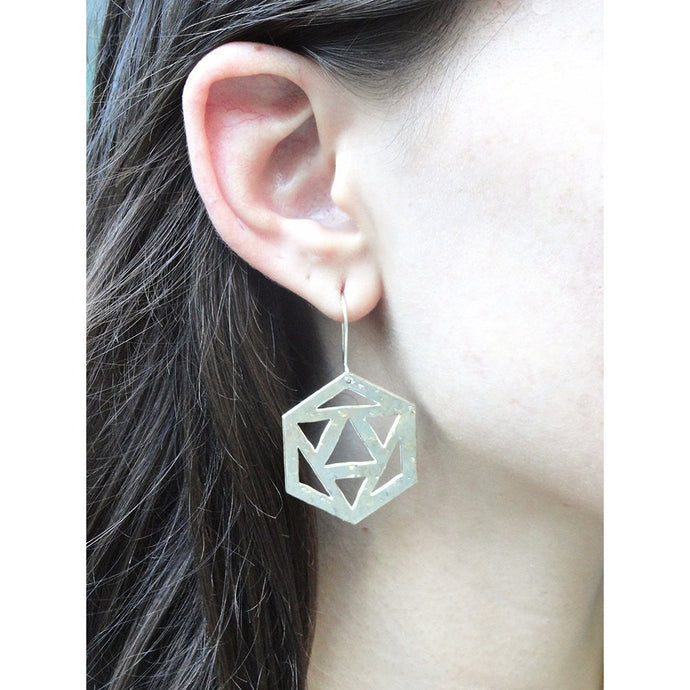 Star Tetrahedron Dangle Earrings