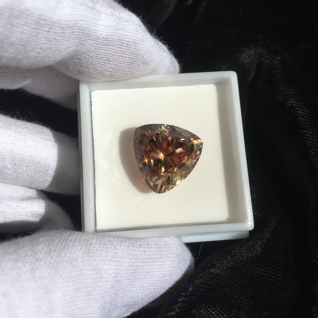 12.4 ct Trillion Cut Oregon Sunstone Collectors Stone