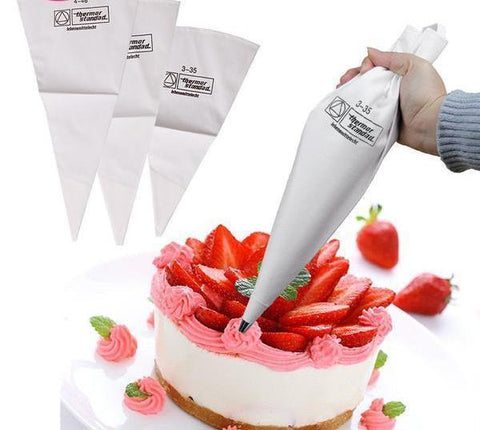 1pc Cloth Cake Pastry Bags Tips (Re-useable )