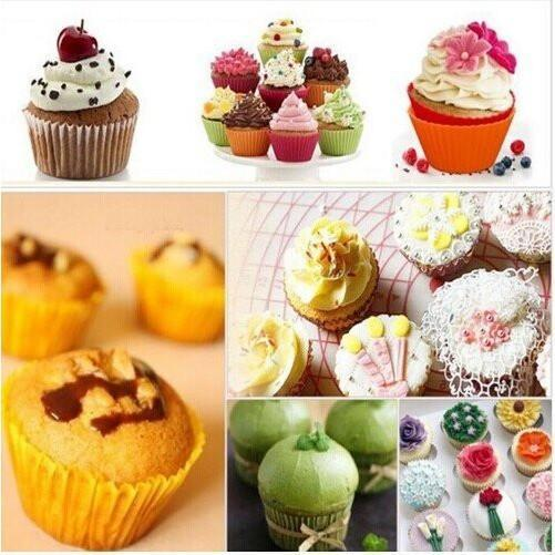 12 pcs Silicone Cupcake and Muffin liner