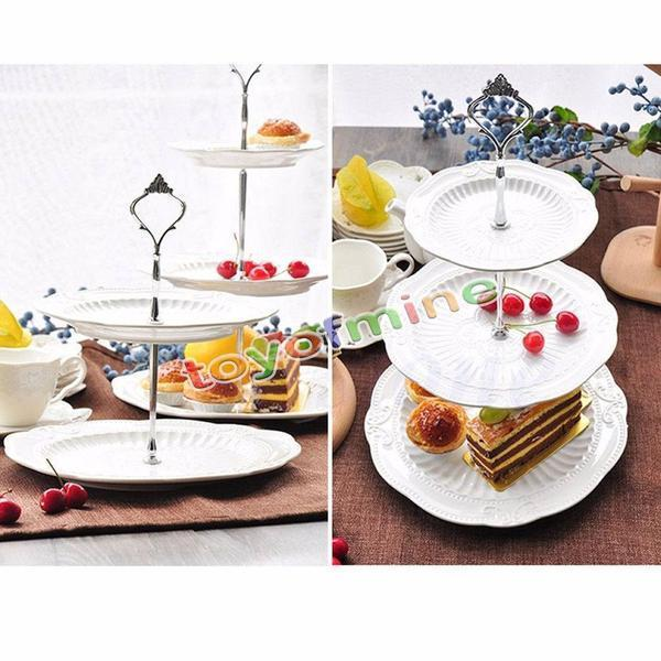 2/ 3Tier  Stainless Steel Round cake Stand