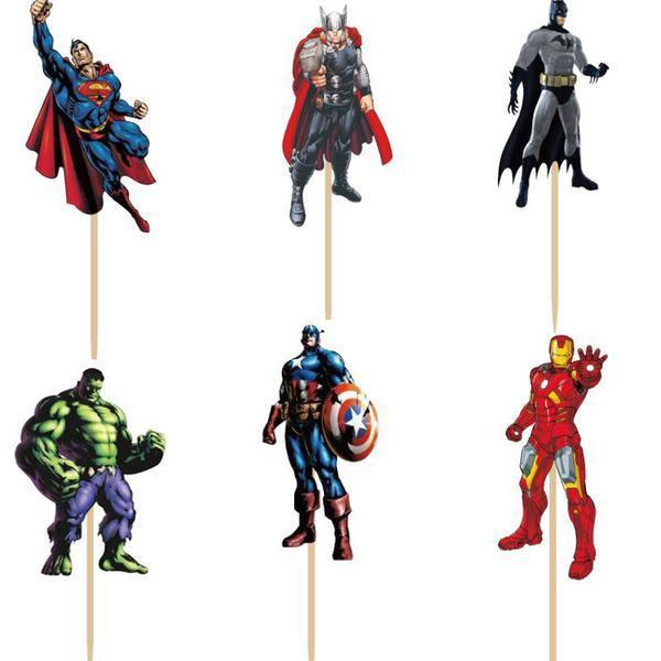 24 Pcs of  Favorite Movie Characters Cake Toppers