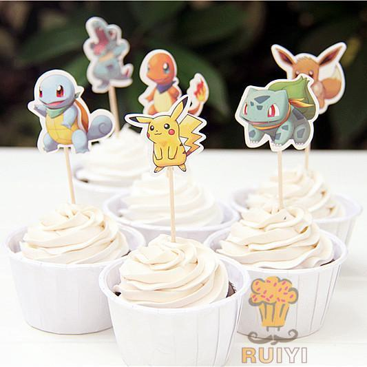 24 Pcs of Pokemon Cupcake/Cake Toppers