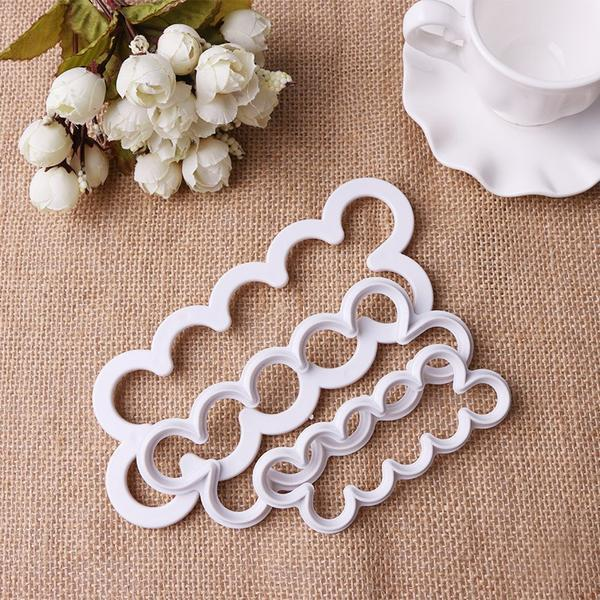 3Pcs/Set Flower Cake Mold, Cookie Cutter, Fondant Cake Decorating Tools