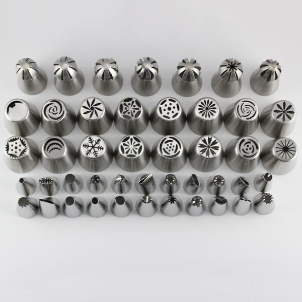 50 Pc Stainless Steel Russian Spherical Ball Icing Piping Nozzles