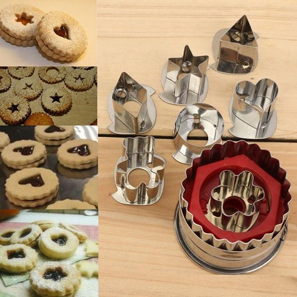 7Pcs/Set DIY Cake, Cookie, Pastry Cutter, Mold