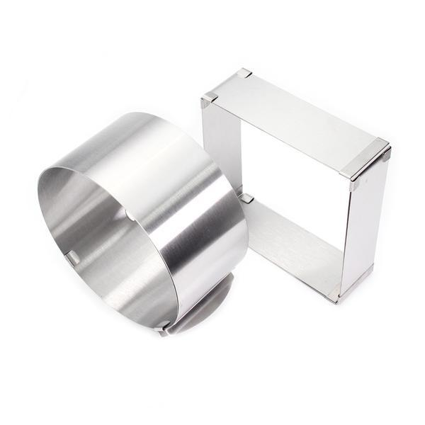 Adjustable Stainless Steel Cake Mousse Ring  set of 2