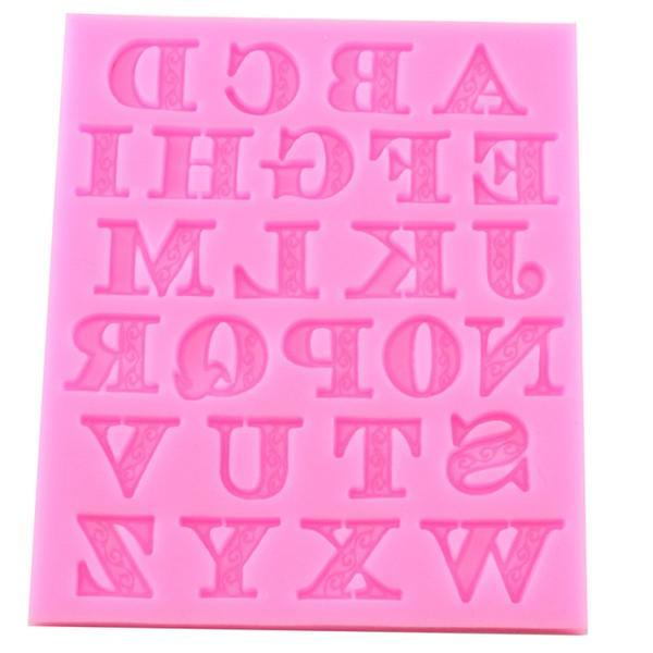 Alphabet Lace Cookie Mold