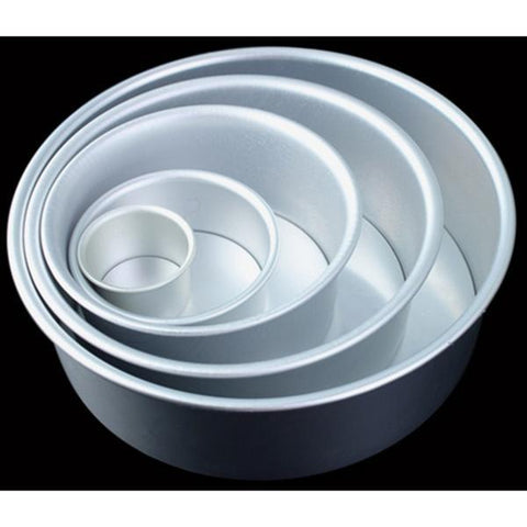 Round Aluminum Cake Mold With Removable Bottom Anode Surface