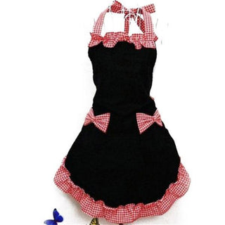 Vintage Flirty Bib Apron Dress with Pocket Gift