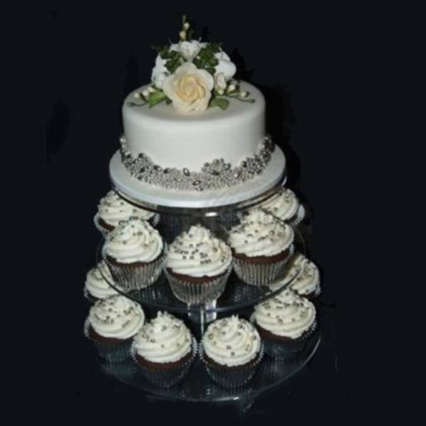 Assemble and Disassemble Cake Holder, Round Acrylic 3/4 Tier Cupcake, Cake Stand