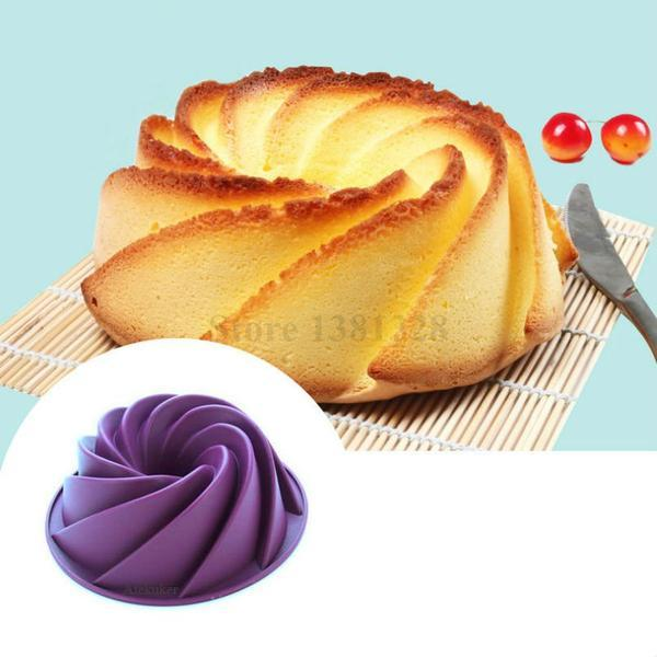 Big Swirl-Shaped Silicone Cake Mould