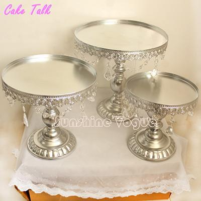 Silver Metal Cake Stand Set