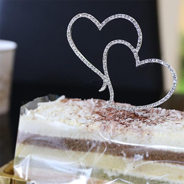 Romantic Crystal Rhinestone Cake Topper