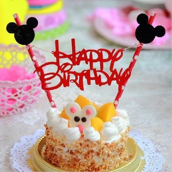 Mickey And Minnie Mouse Birthday Cake Topper