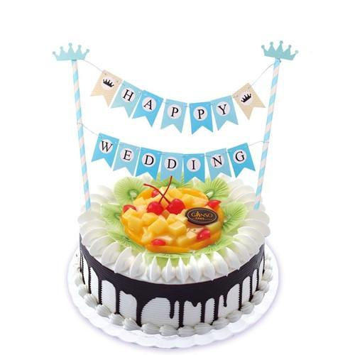 Mickey Head and Happy Birthday Bunting Cake Topper