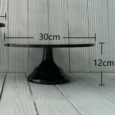 10/12 Inch Black Classic Cake Stand