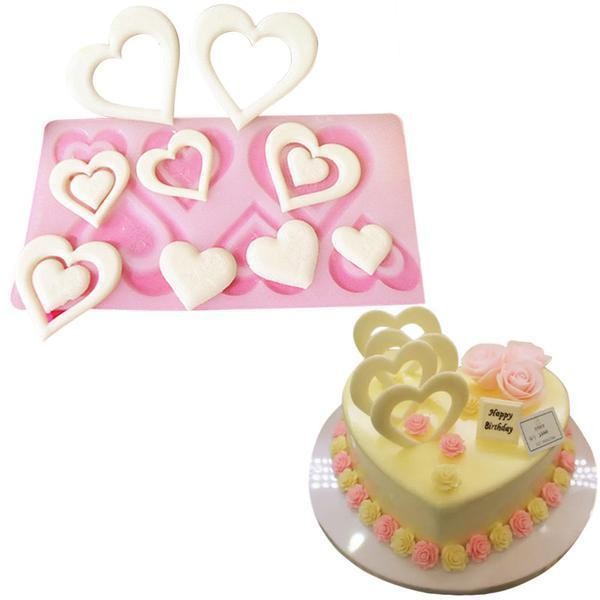 DIY 3D Heart-Shaped Chocolate Silicone Mold