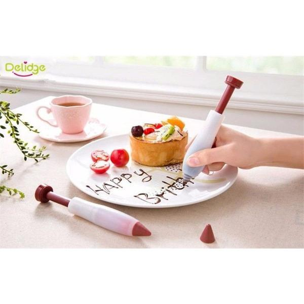 Dessert, Pastry, Icing Cream, Chocolate, Cake Decorating Pen