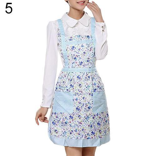 Women's Bib Comfy Cooking Chef Floral Apron