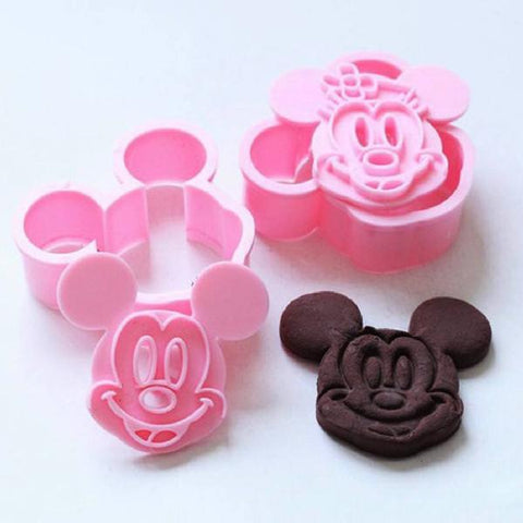 Mickey/Minnie Cookie Cutter 2pcs