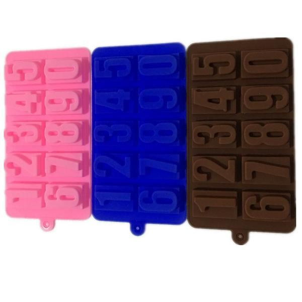 Numbers Chocolate Mold, Cookies Mold, Cake Decorating