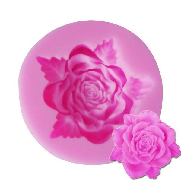 Rose-Shaped Silicone Mold