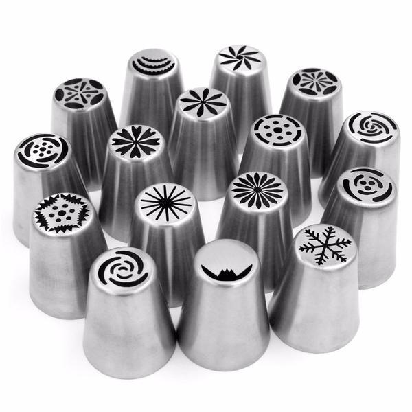 56pc Russian Piping Nozzles